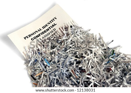 Shredded paper depicting privacy protection - stock photo