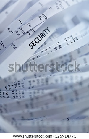 Shredded paper series - security