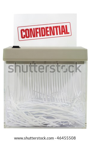 shredder - stock photo