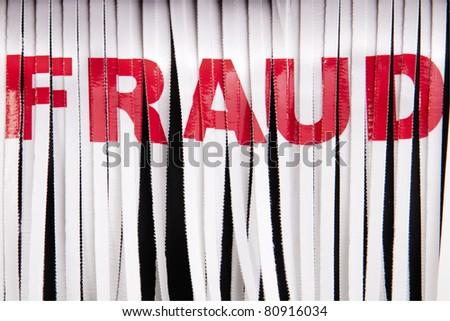 Shredding fraud. - stock photo