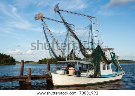 Shrimp boat - stock photo