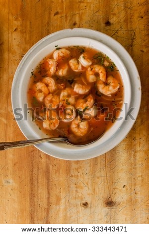Shrimp ceviche, popular meal in South America - stock photo