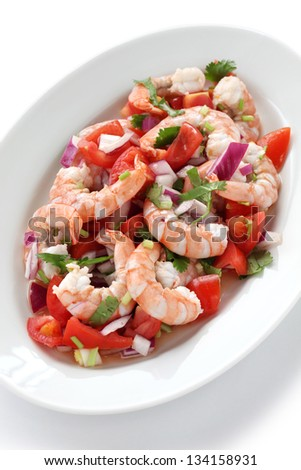 Latin american cuisine stock images royalty free images for Shrimp and fish ceviche
