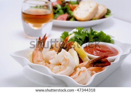 Shrimp cocktail - stock photo