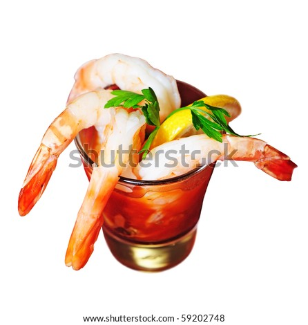shrimp cocktail - stock photo
