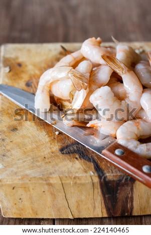 Shrimp prepare for cook - stock photo