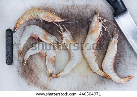 Shrimp prepare for cook - stock photo