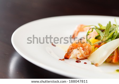 shrimp salad - stock photo