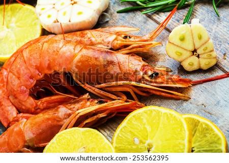 Shrimp sea food - stock photo
