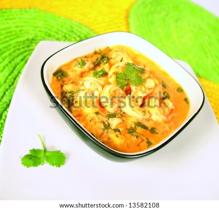 Shrimp soup called bobo - stock photo