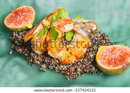 Shrimps - luxury meal - stock photo