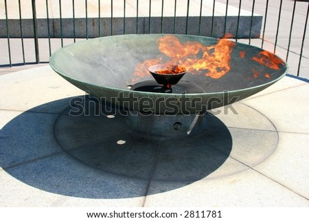 shrine remembrance fire - stock photo