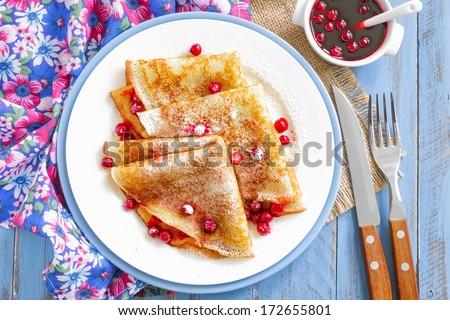 Shrove Tuesday pancakes - stock photo