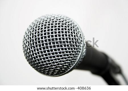 Shure dynamic microphone - stock photo