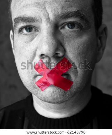 Shut up! - stock photo