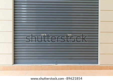 shutter steel door - home security - stock photo