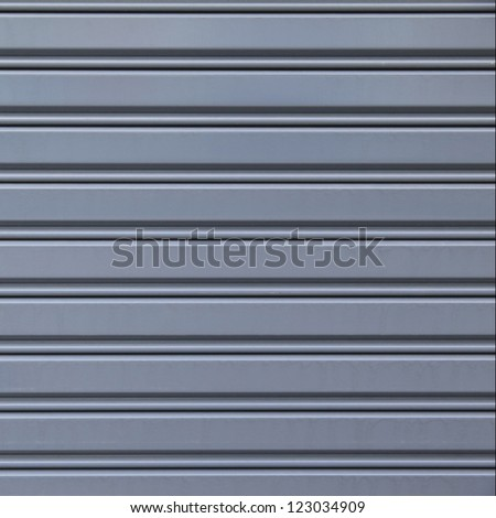 Shutter steel door texture - stock photo