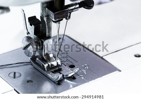 Shuttle a needle. Part of the sewing machine - stock photo