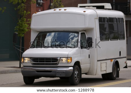 Shuttle Bus - stock photo