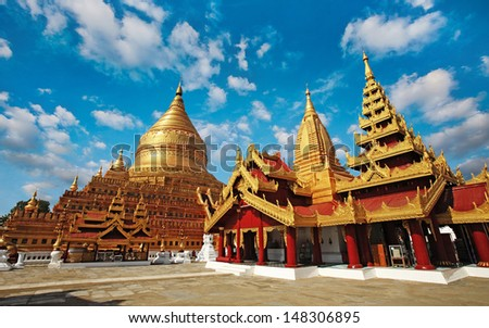 Shwedagon Pagoda - stock photo