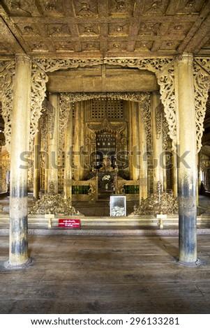 Shwenandaw Kyaung, Mandalay, Myanmar - stock photo