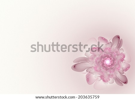 Shyly soft texture in the form of an elegant flower in the warm light background