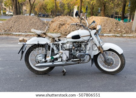 Shymkent, KAZAKHSTAN - October 29, 2016: Closing of biker season in Shymkent