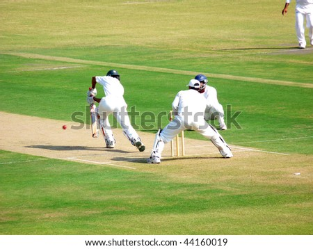 SIALKOT, PAKISTAN - OCTOBER 22: Quaid-e-Azam Trophy First Class Cricket Match Played Between Sialkot & Multan Teams at Jinnah Cricket Stadium October 22, 2009 in Sialkot, Pakistan