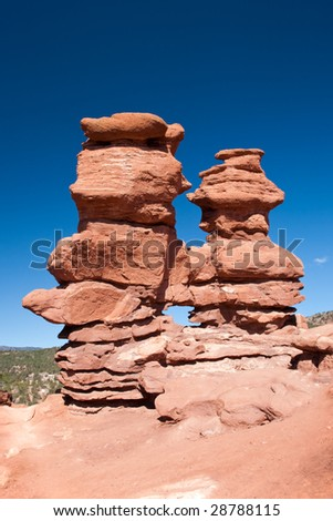 Siamese Twins Rock Formation - stock photo