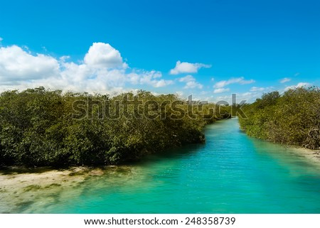 Sian Ka'an Biosphere Reserve Mexico - stock photo