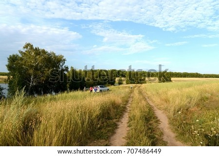 SIBERIA, RUSSIA  - AUGUST 3,2013:Summer landscape in the Altai Territory.