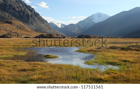 Siberian Alpine Tundra, Altai Russia - stock photo