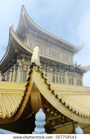 SICHUAN, CHINA - Nov 26  2015: Baoguo Temple in Mount Emei Scenic Area(World Heritage site). a famous historic site in Emeishan, Sichuan, China