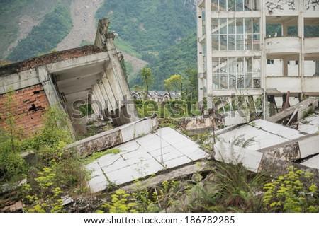 Sichuan Earthquake - stock photo
