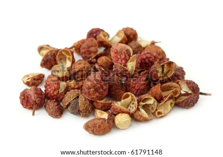 Sichuan pepper isolated on white background - stock photo