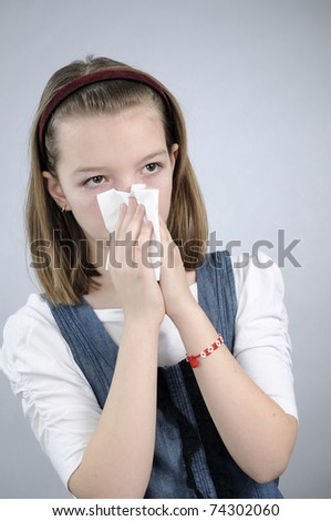 sick young person suffering