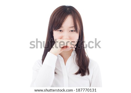 Young Business Sneezing Woman Stock Photos, Illustrations, and Vector ...