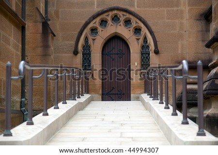 Side entrance to st. Mary's Cathedral in Sydney. Australia - stock photo
