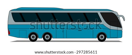 Side illustration of coach