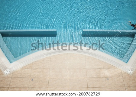 Side of a swimming pool - stock photo