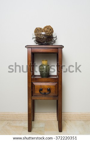 Side table with drawer - stock photo