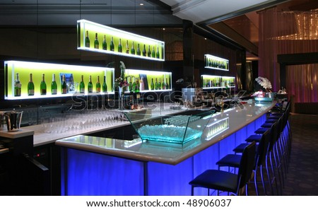 Side view of a bar - stock photo