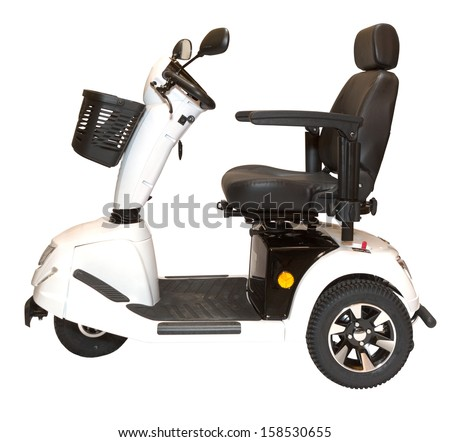 Mobility scooter stock photos images pictures for Motorized cart for seniors