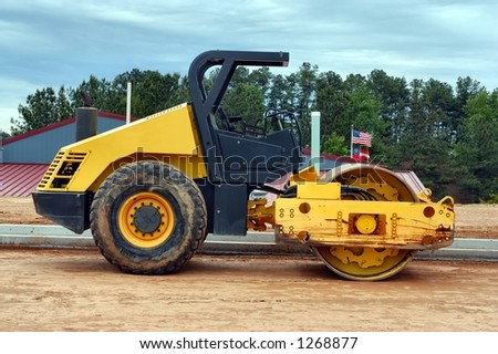 Side view of a heavy roller - stock photo