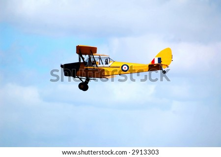 side view of a historic plane - stock photo