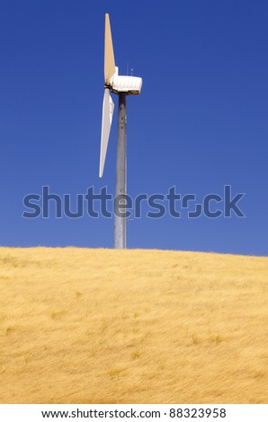 Side view of a windmill. - stock photo