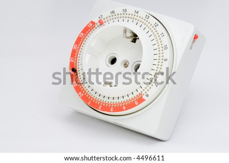 side view of an electrical timer