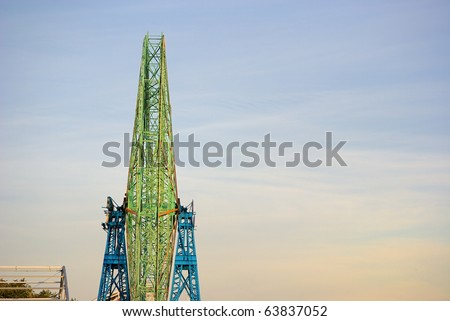 Side view of Astro Wheel at Coney Island, New York. - stock photo