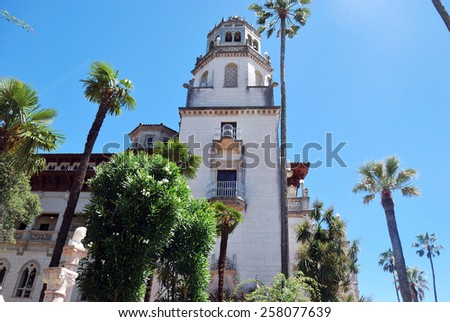 Side view of Hearst Castle, California