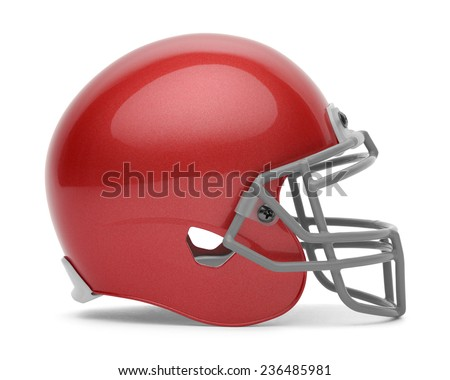 Helmet Side View Side View of Red Football